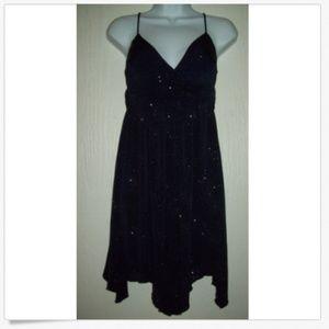 Sweet Storm Dress M Glittery Dark Blue Formal Prom